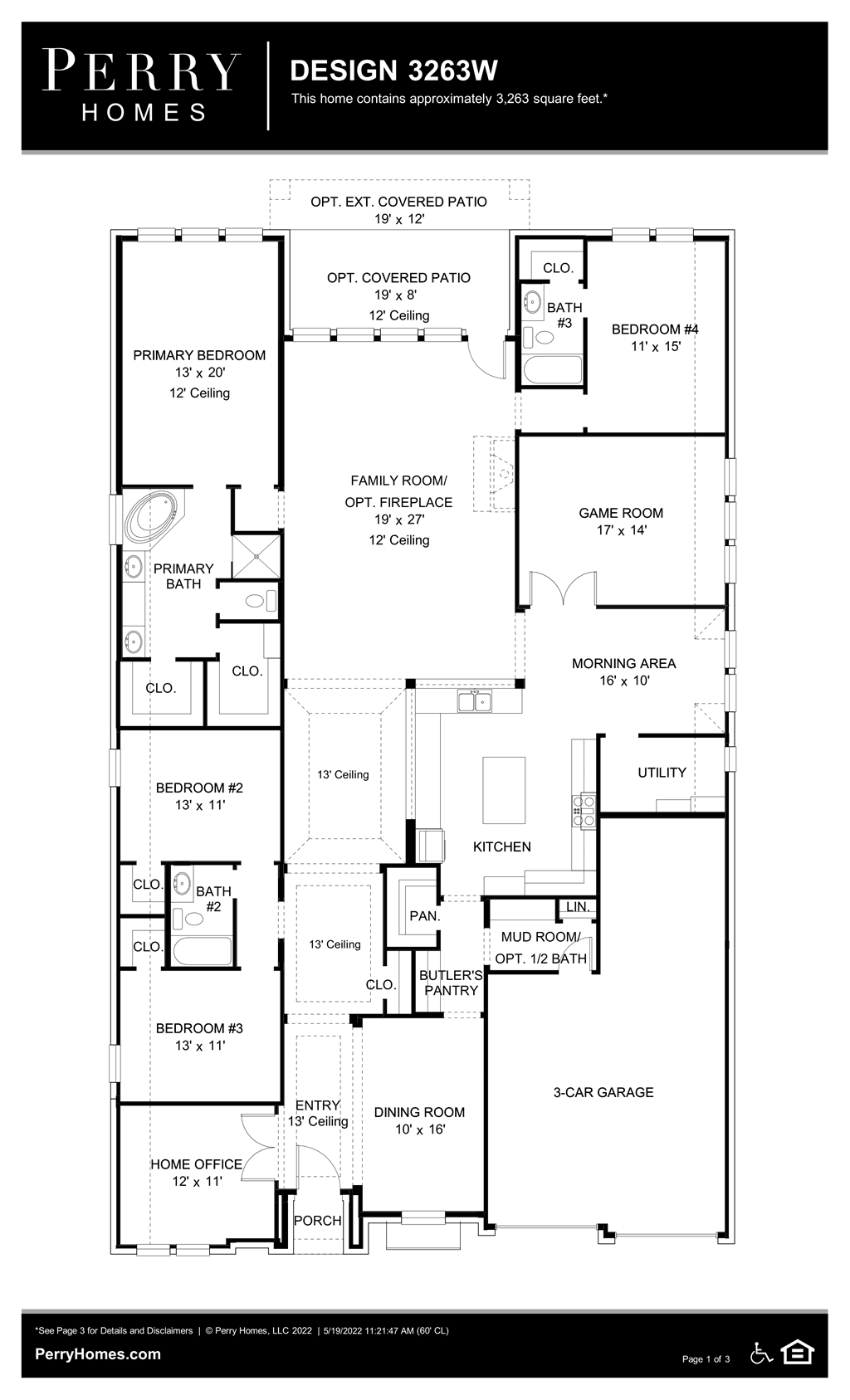 Floor Plan for 3263W