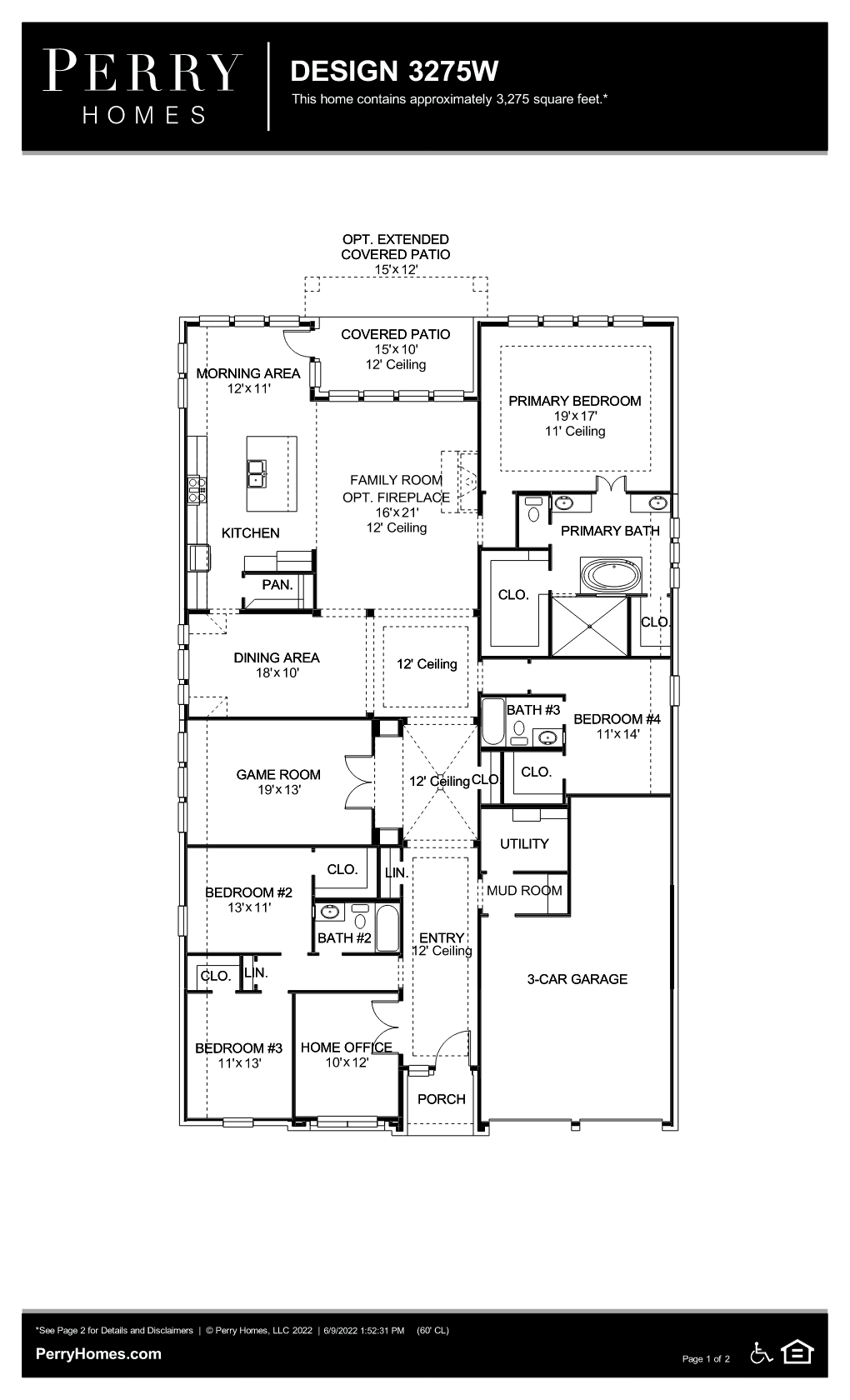 Floor Plan for 3275W