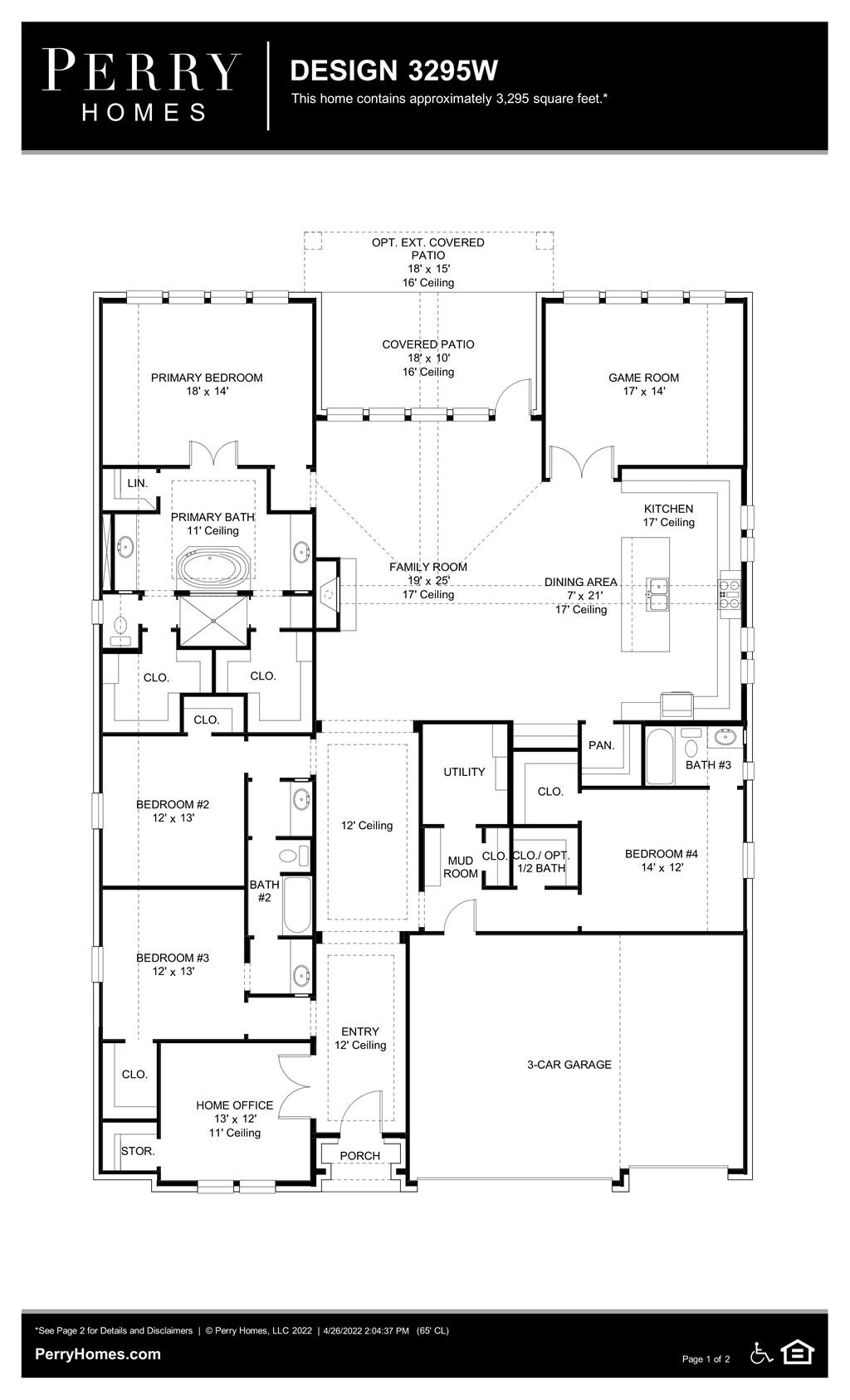 Floor Plan for 3295W