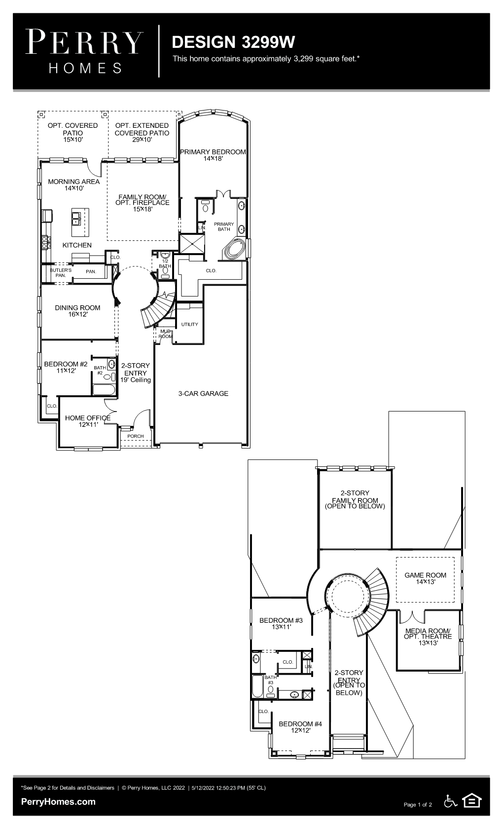 Floor Plan for 3299W