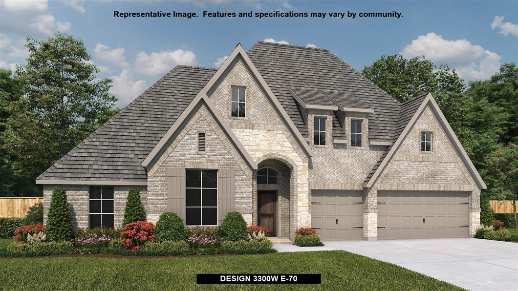 New Home Design, 3,300 sq. ft., 4 bed / 3.5 bath, 3-car garage