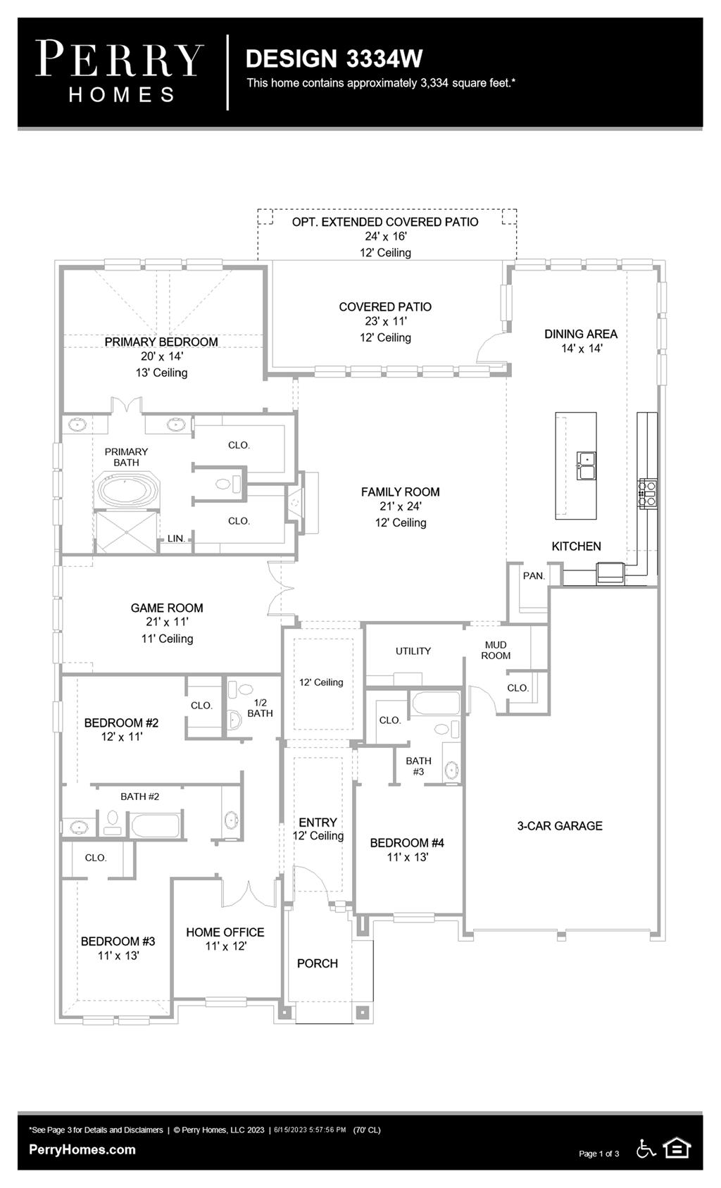Floor Plan for 3334W