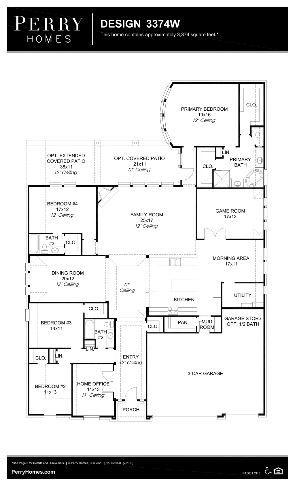 Floor Plan for 3374W