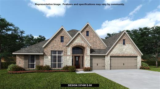 New Home Design, 3,374 sq. ft., 4 bed / 3.0 bath, 3-car garage