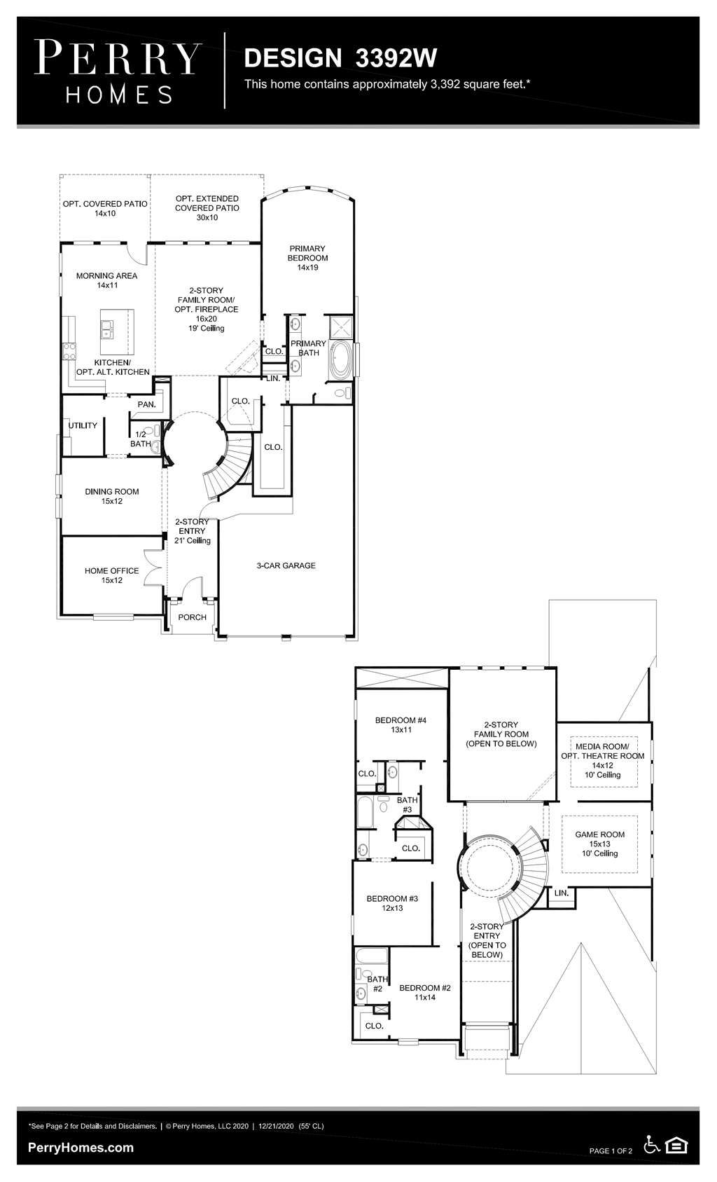 Floor Plan for 3392W