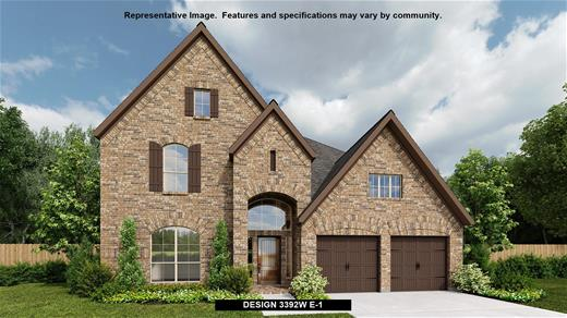 New Home Design, 3,392 sq. ft., 4 bed / 3.5 bath, 3-car garage