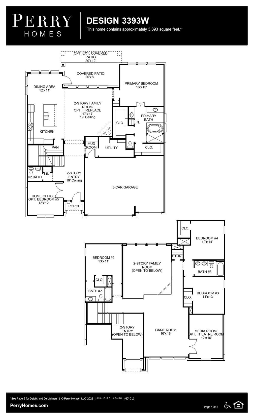 Floor Plan for 3393W