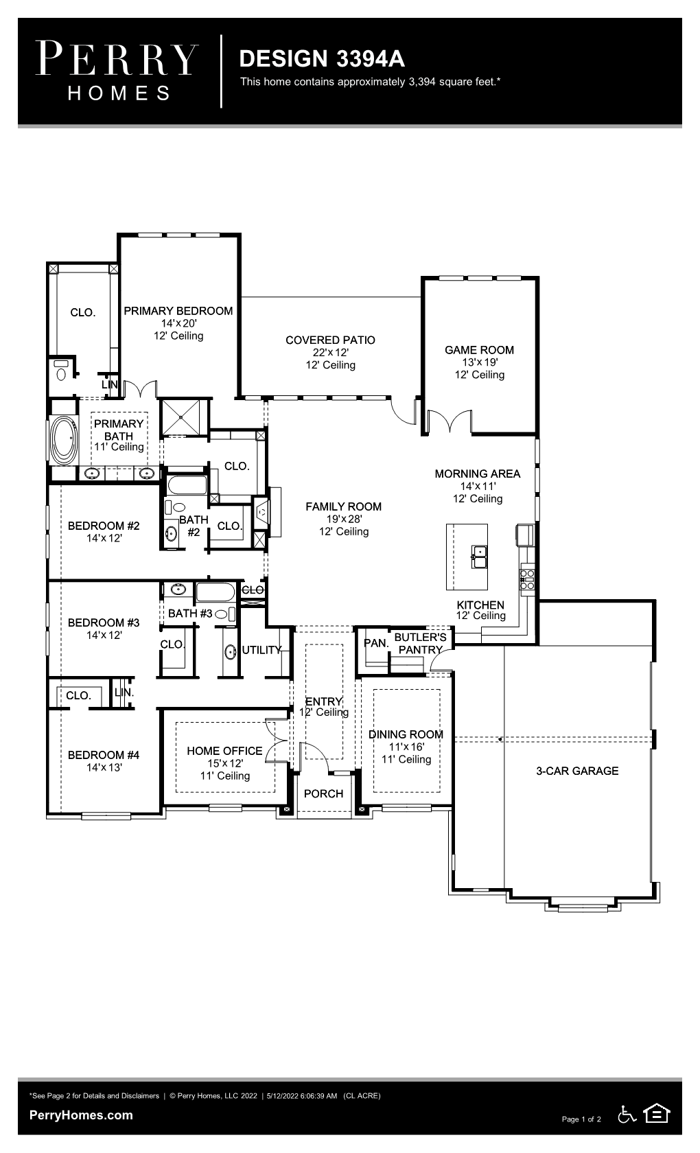 Floor Plan for 3394A