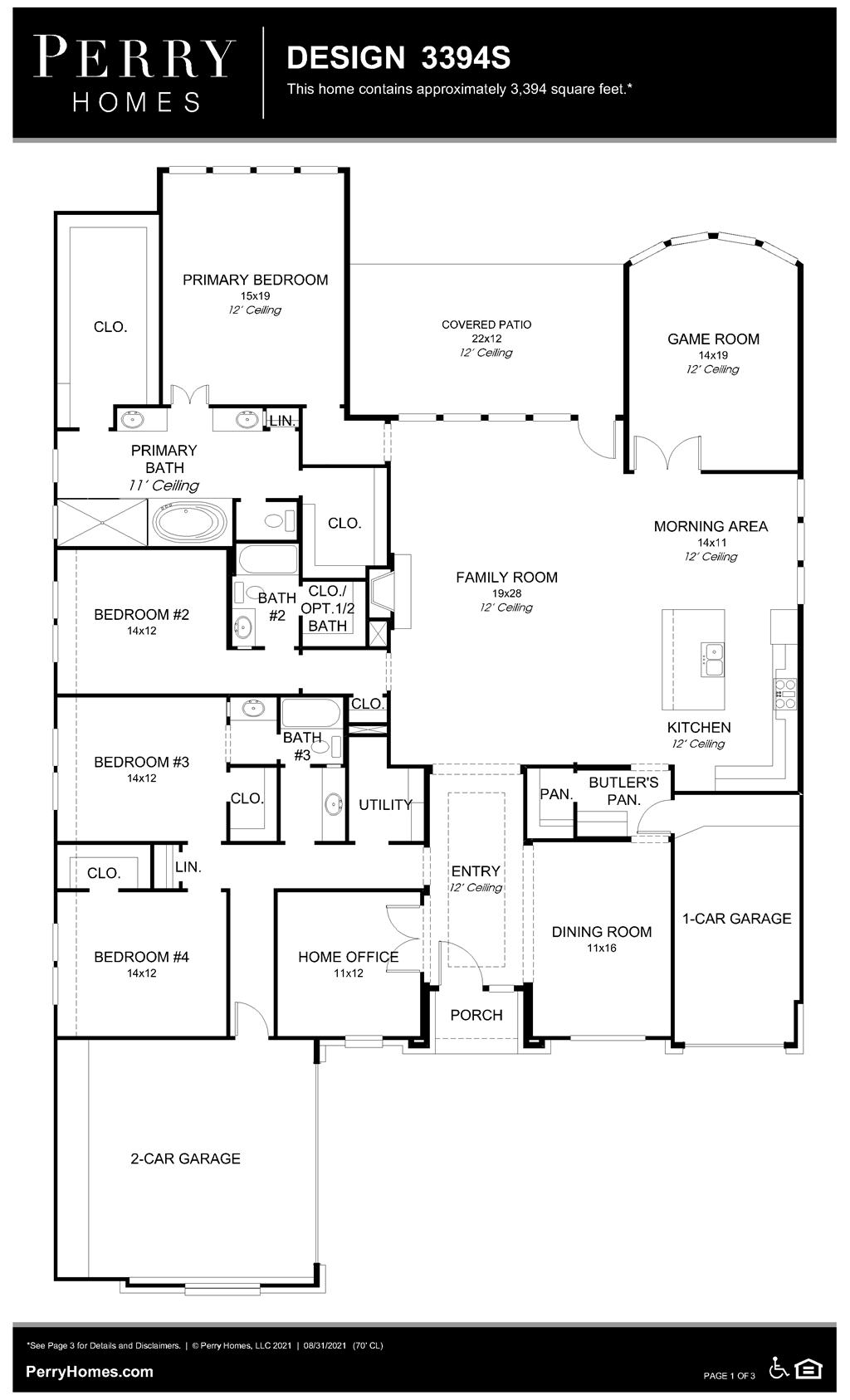 Floor Plan for 3394S