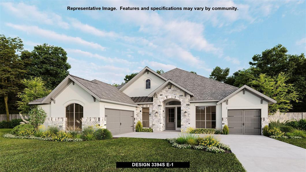 New Home Design, 3,394 sq. ft., 4 bed / 3.0 bath, 3-car garage