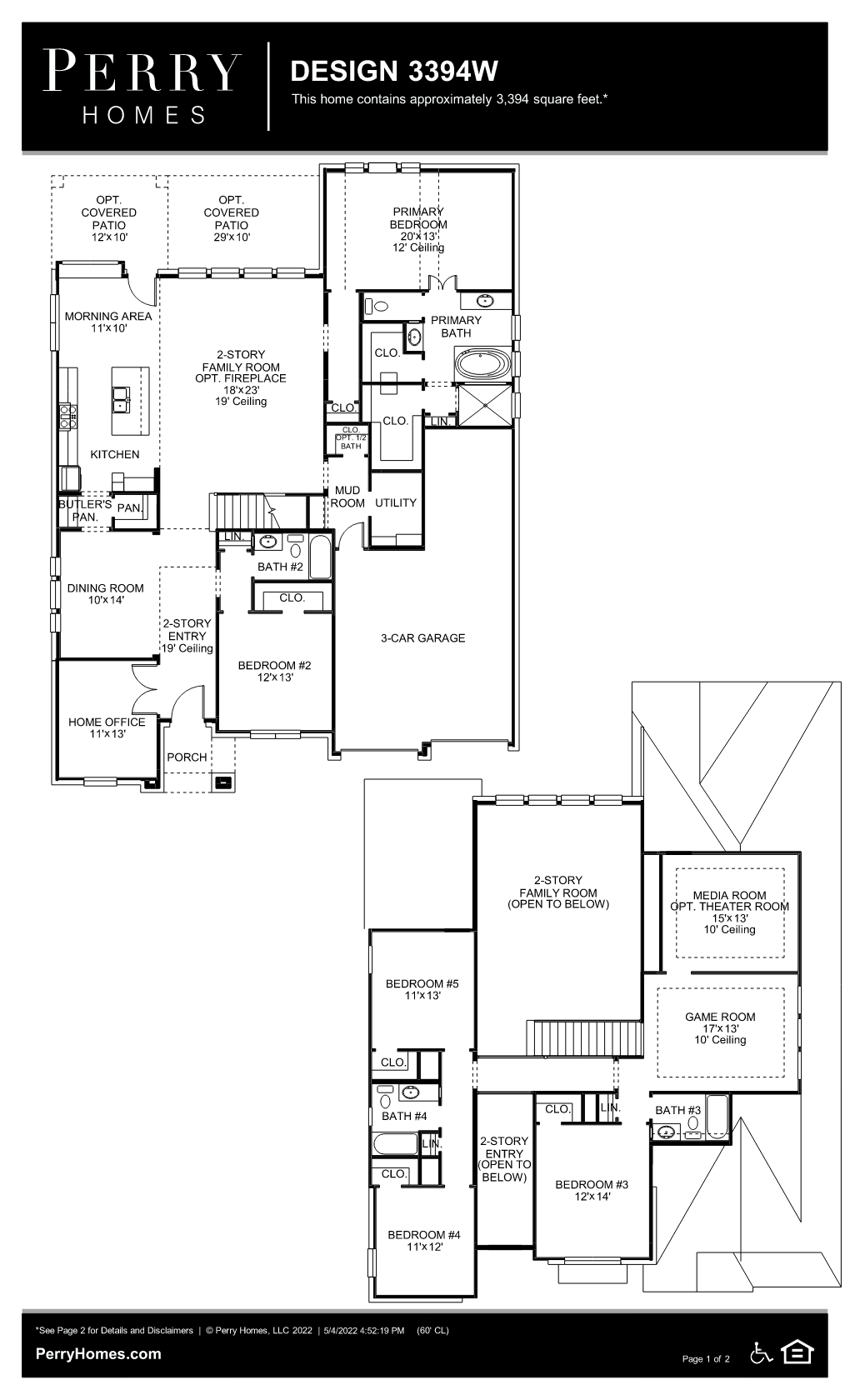 Floor Plan for 3394W