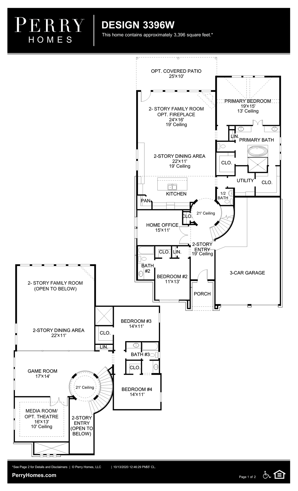 Floor Plan for 3396W