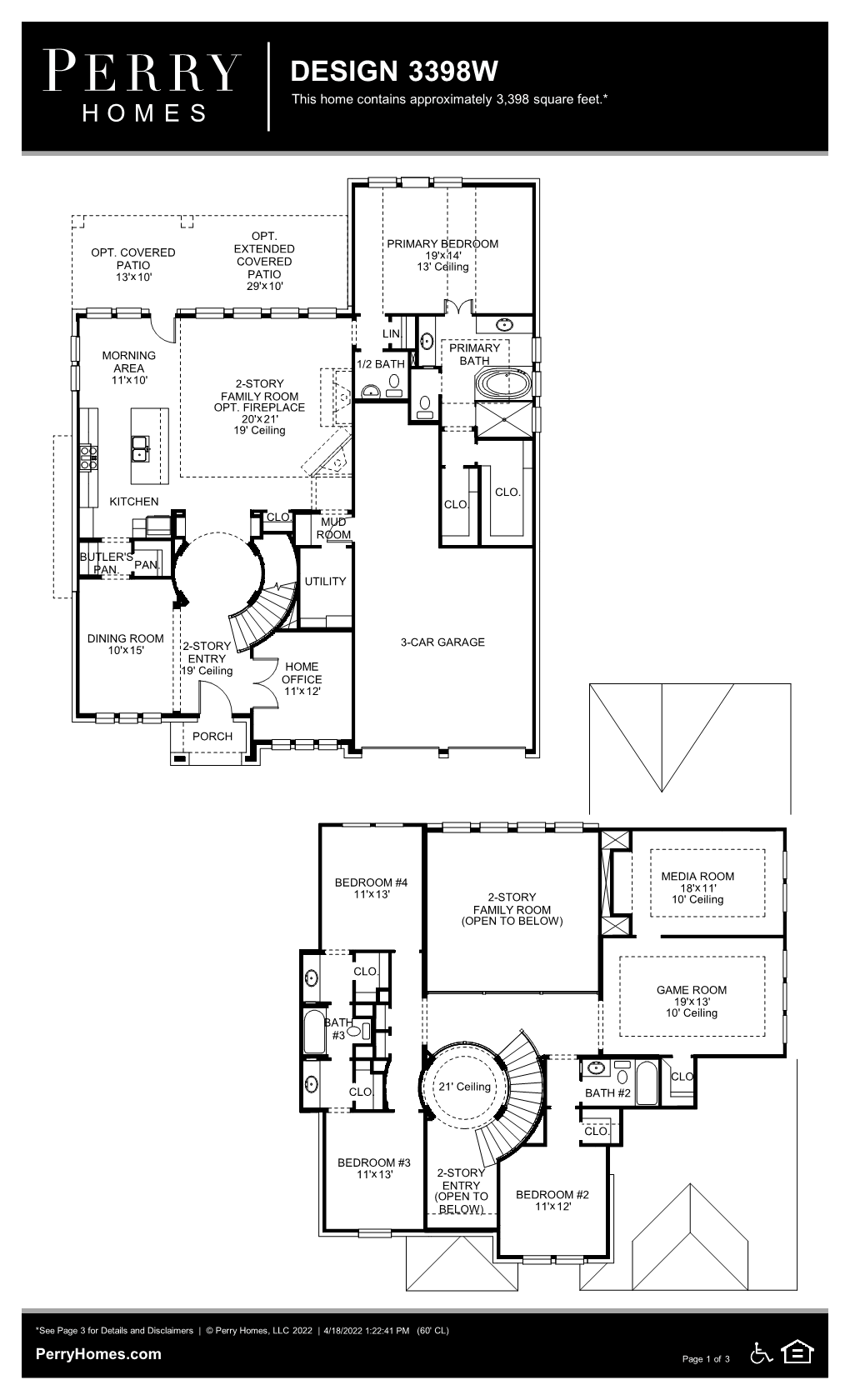 Floor Plan for 3398W