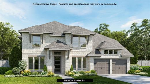 New Home Design, 3,398 sq. ft., 4 bed / 3.5 bath, 3-car garage
