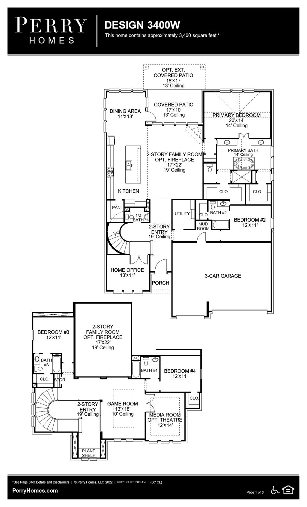 Floor Plan for 3400W