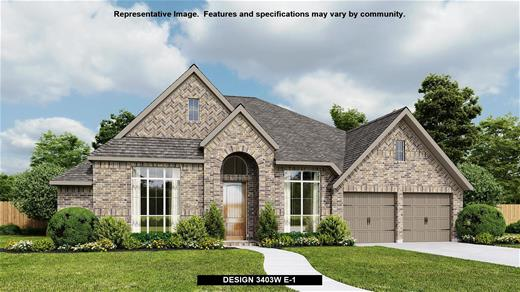 New Home Design, 3,403 sq. ft., 4 bed / 3.5 bath, 3-car garage