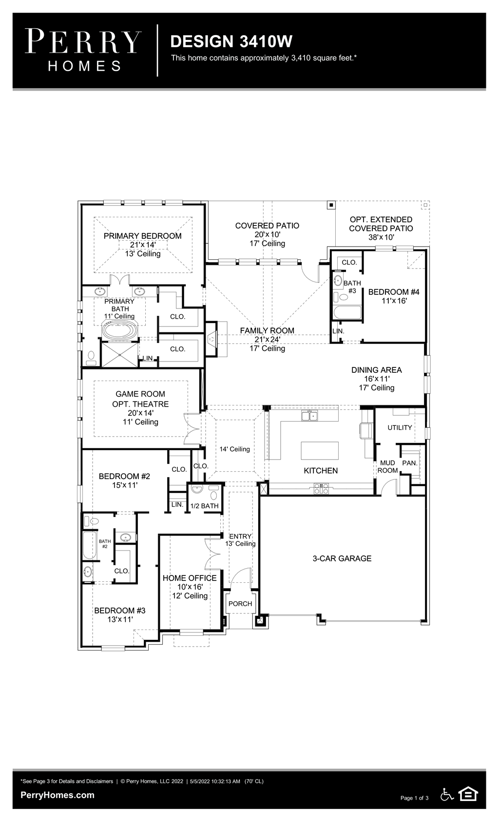 Floor Plan for 3410W