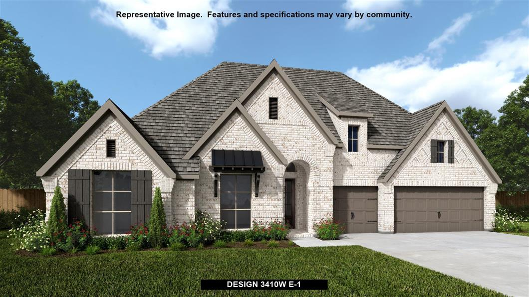 New Home Design, 3,410 sq. ft., 4 bed / 3.5 bath, 3-car garage