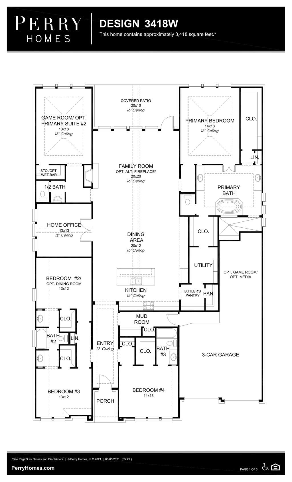 Floor Plan for 3418W