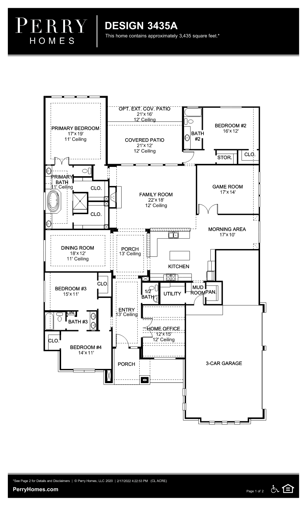 Floor Plan for 3435A