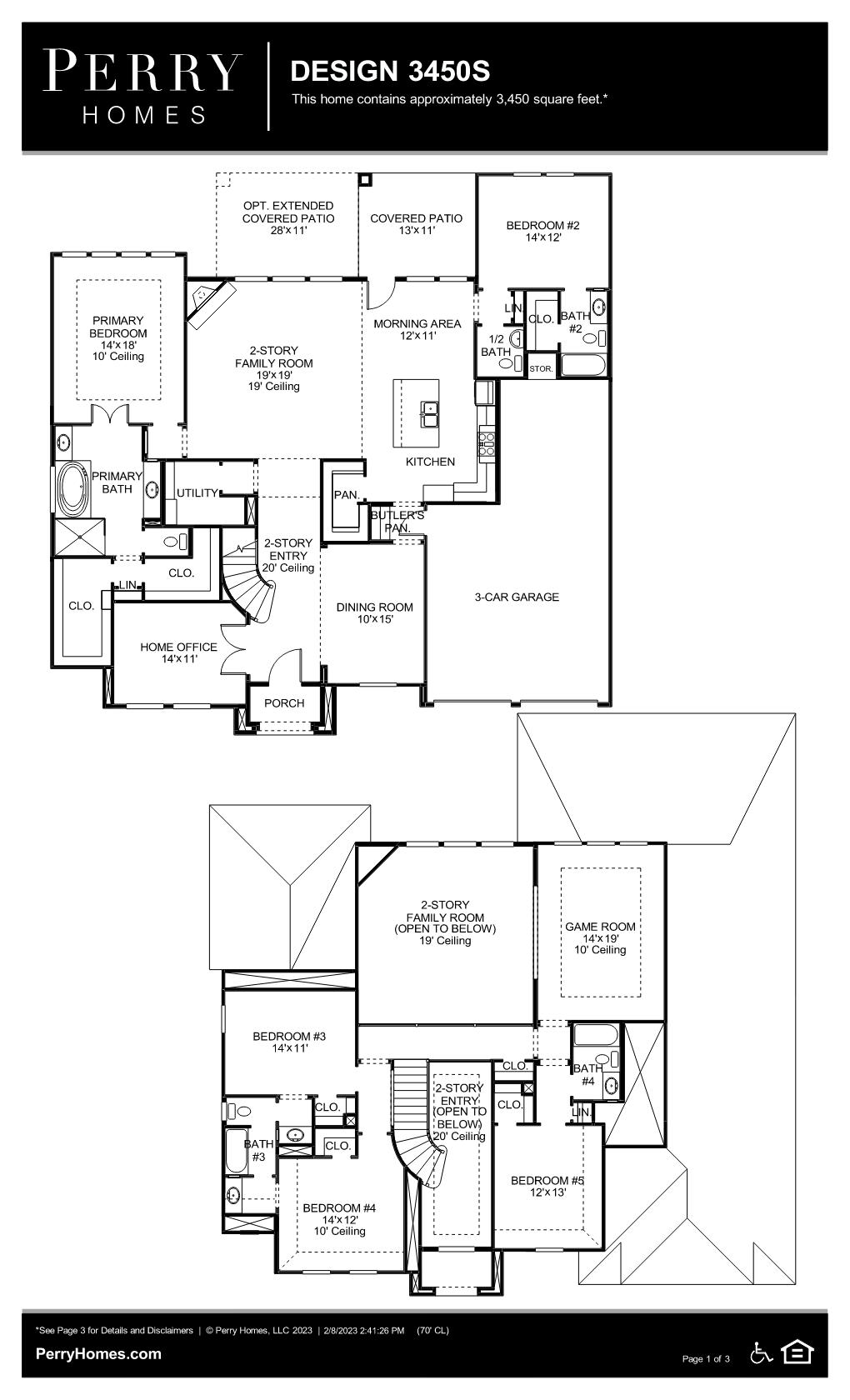 Floor Plan for 3450S
