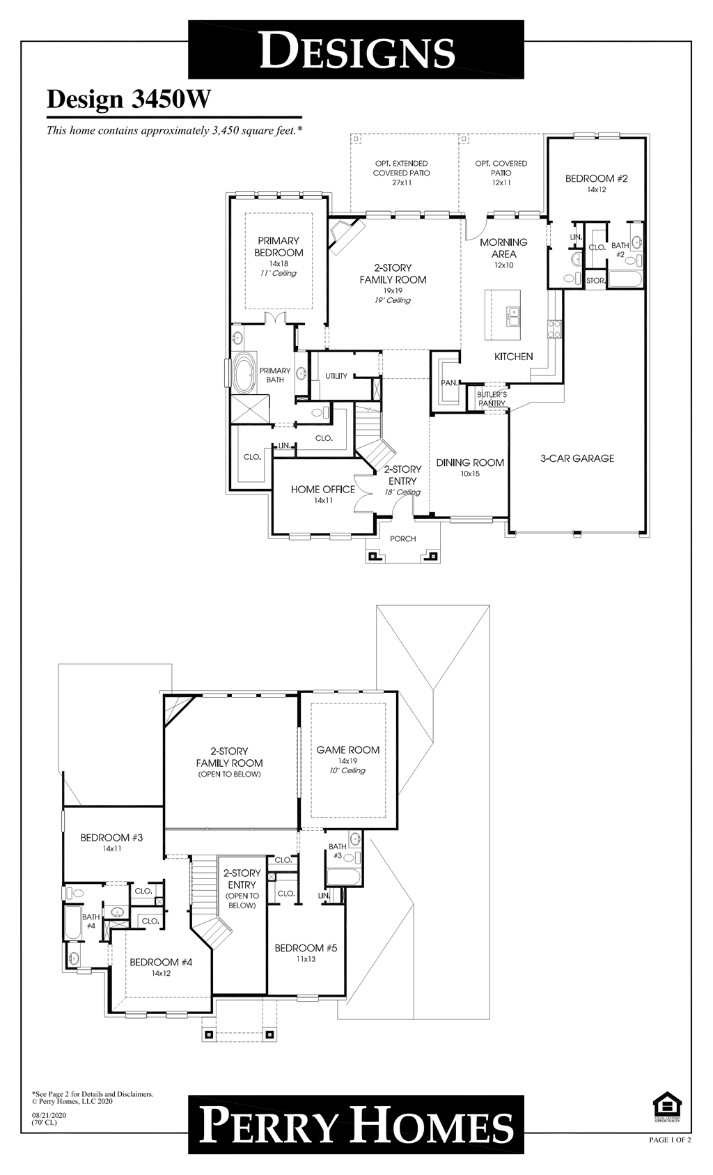 Floor Plan for 3450W