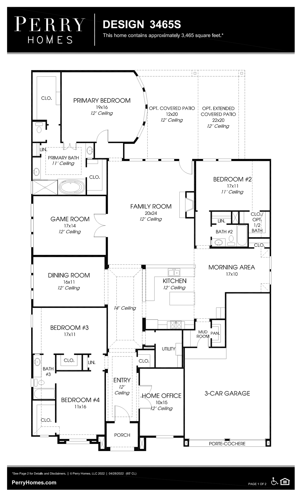 Floor Plan for 3465S