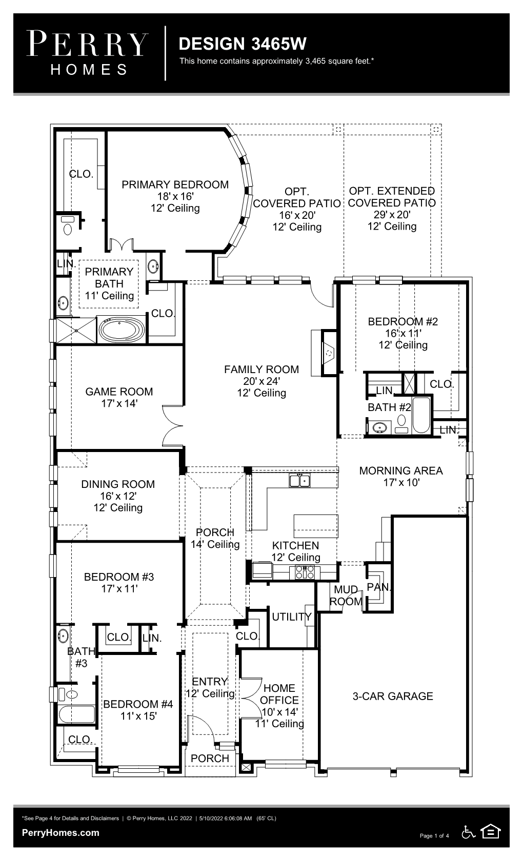 Floor Plan for 3465W