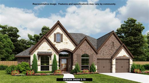 New Home Design, 3,465 sq. ft., 4 bed / 3.5 bath, 3-car garage