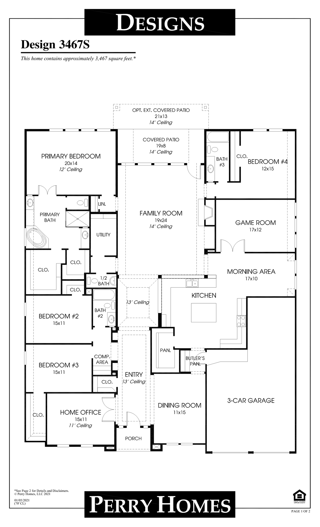 Floor Plan for 3467S