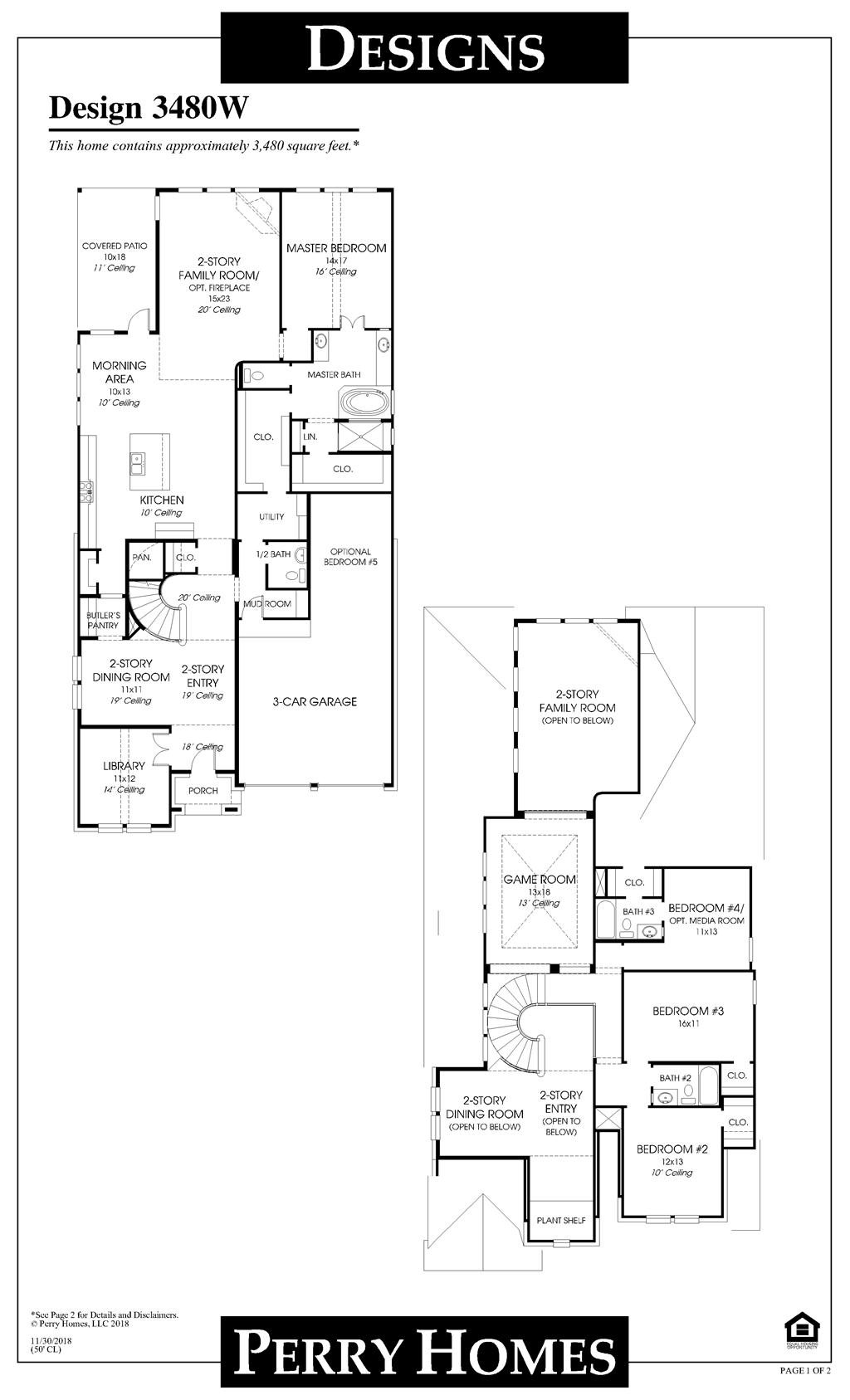 Floor Plan for 3480W