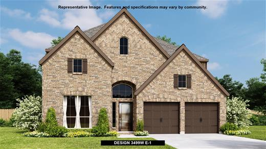New Home Design, 3,499 sq. ft., 4 bed / 3.5 bath, 3-car garage
