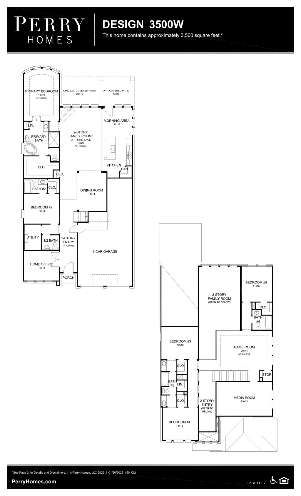 Floor Plan for 3500W