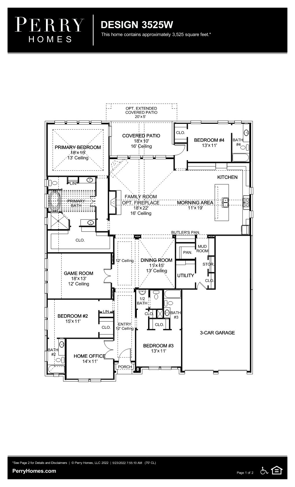 Floor Plan for 3525W