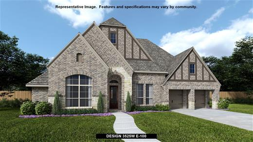 New Home Design, 3,525 sq. ft., 4 bed / 4.* bath, 3-car garage