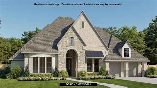 New Home Design, 3,525 sq. ft., 4 bed / 4.5 bath, 3-car garage