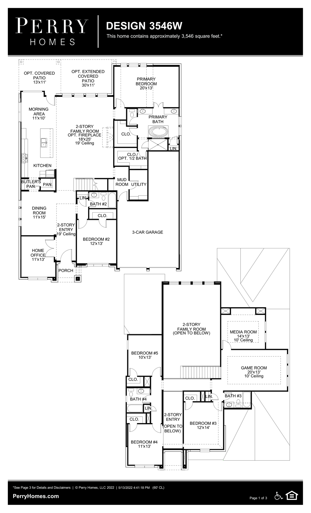 Floor Plan for 3546W