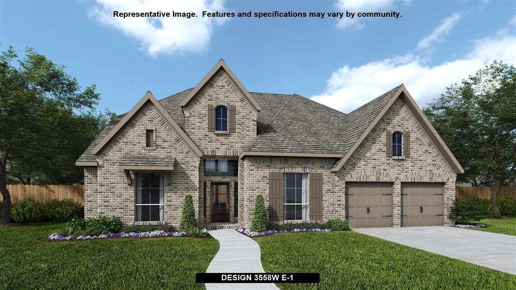 New Home Design, 3,558 sq. ft., 4 bed / 3.0 bath, 3-car garage