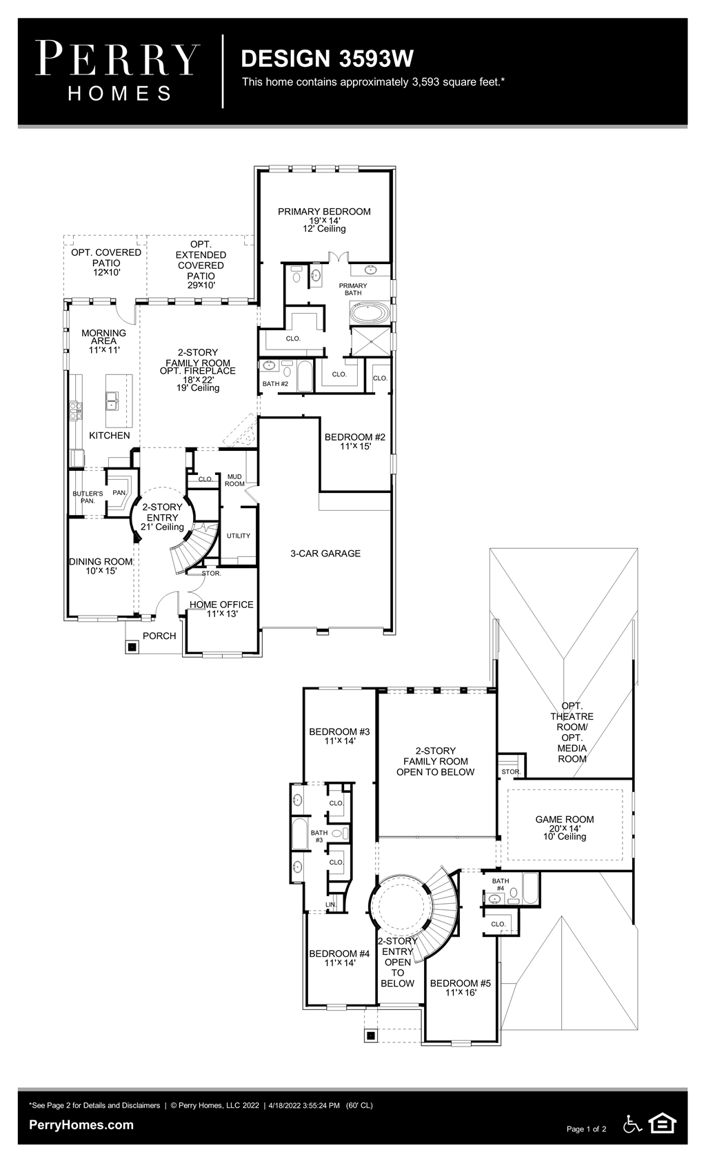 Floor Plan for 3593W