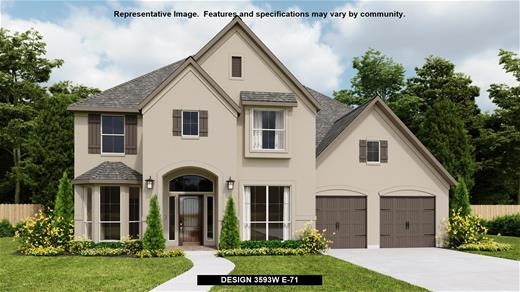 New Home Design, 3,640 sq. ft., 5 bed / 4.5 bath, 4-car garage