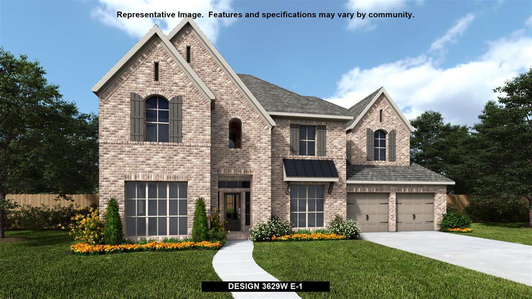 New Home Design, 3,629 sq. ft., 5 bed / 4.5 bath, 3-car garage