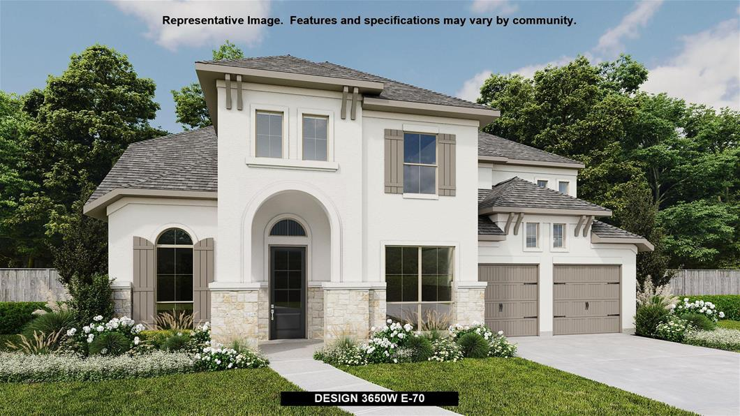 New Home Design, 3,650 sq. ft., 4 bed / 4.5 bath, 3-car garage