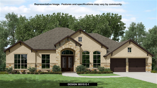 New Home Design, 3,651 sq. ft., 4 bed / 3.5 bath, 3-car garage
