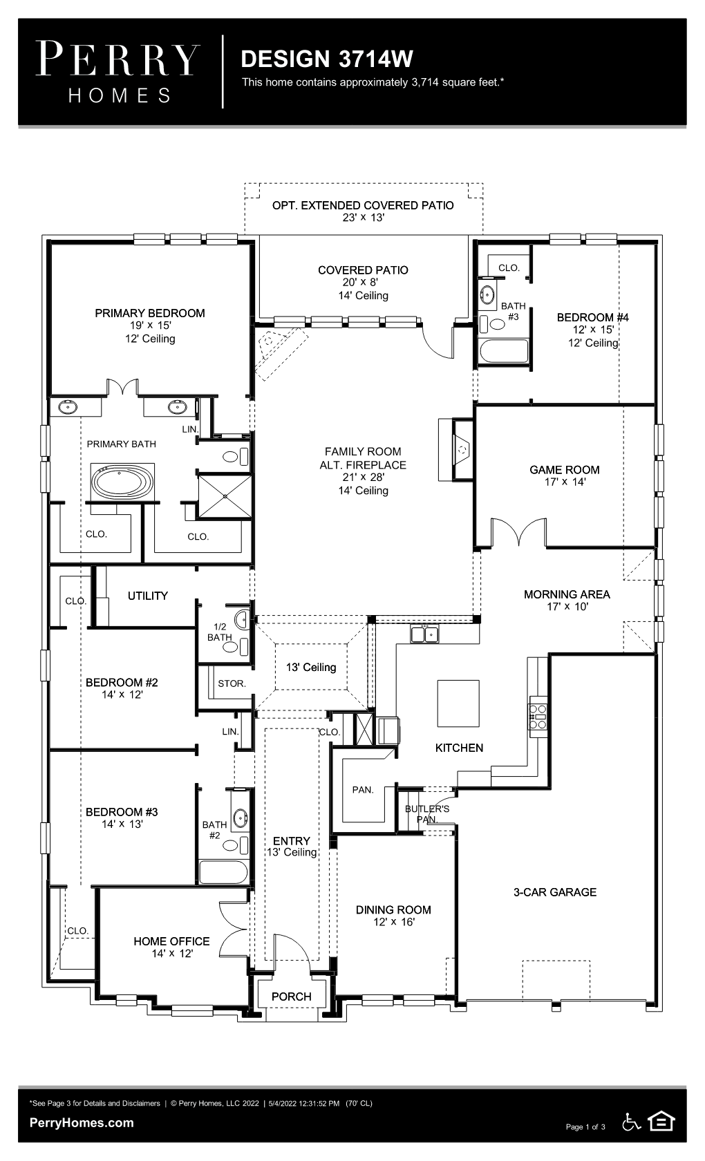 Floor Plan for 3714W