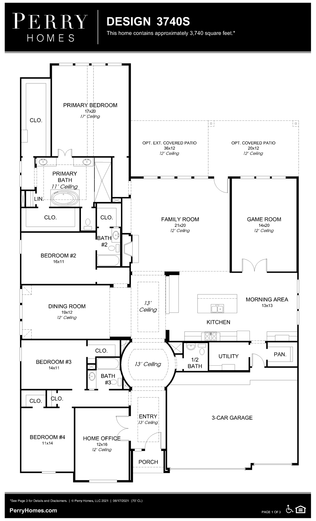 Floor Plan for 3740S