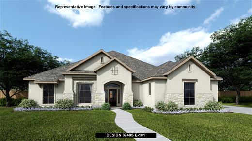 New Home Design, 3,740 sq. ft., 4 bed / 3.5 bath, 3-car garage