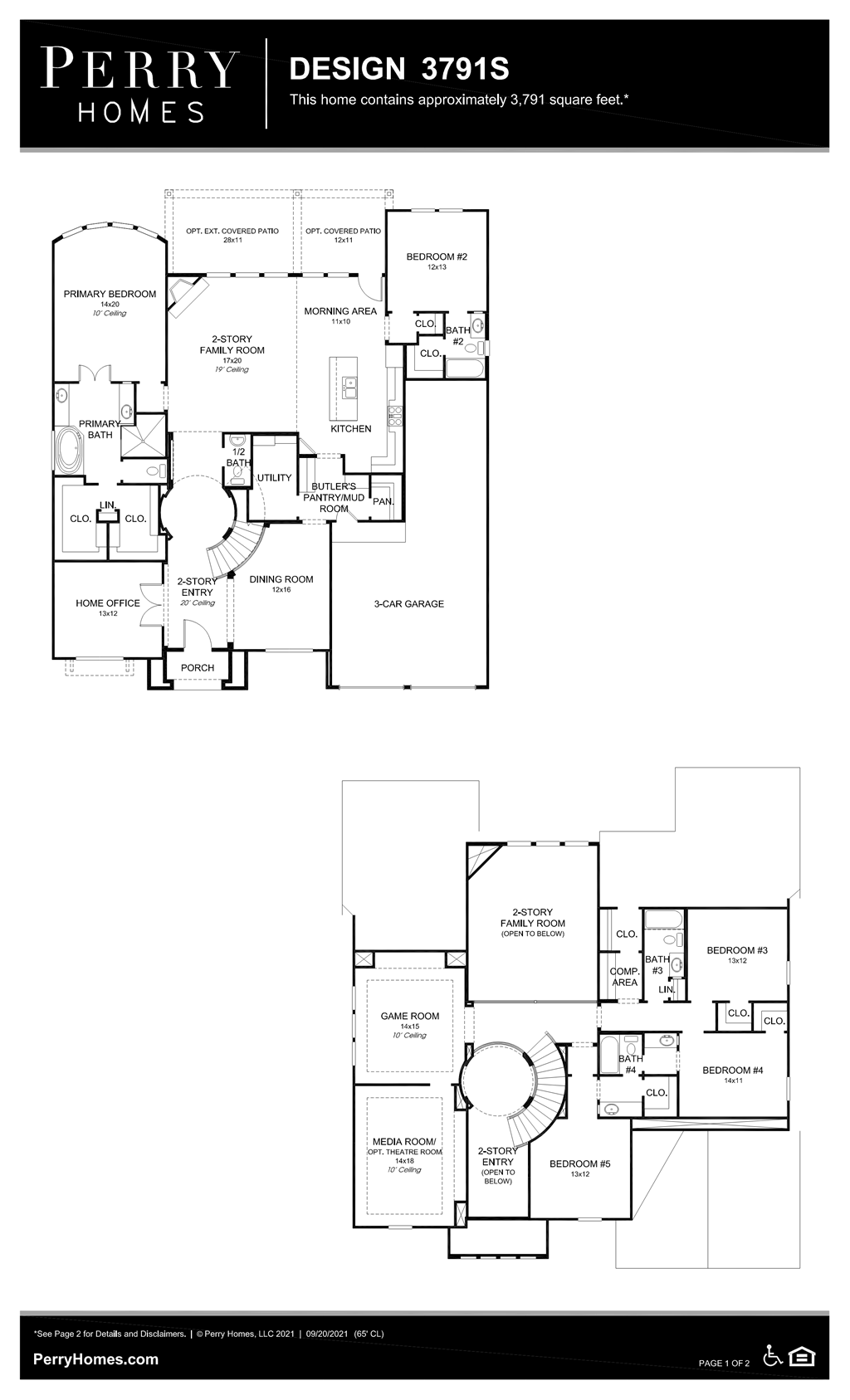 Floor Plan for 3791S