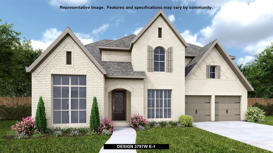 New Home Design, 3,797 sq. ft., 5 bed / 4.5 bath, 3-car garage