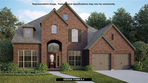 New Home Design, 3,799 sq. ft., 4 bed / 3.0 bath, 3-car garage