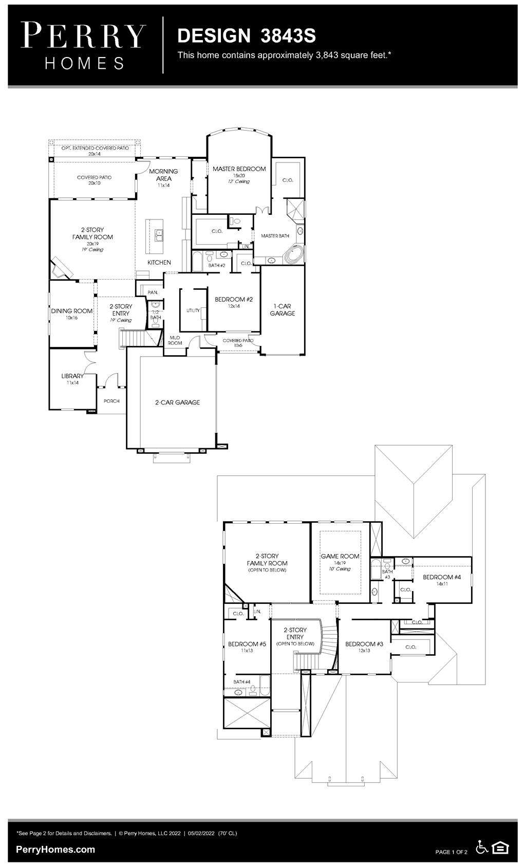 Floor Plan for 3843S